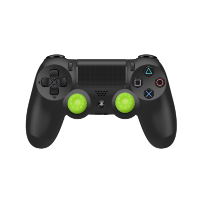 Green Controller Grips on Black PS4 Controller