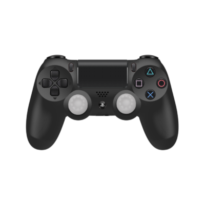 Clear Controller Grips on Black PS4 Controller