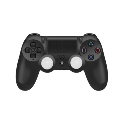 White Controller Grips on Black PS4 Controller